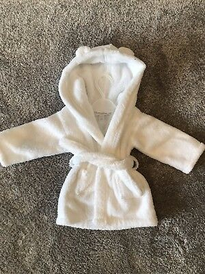 Unisex Kids The  Little White Company Dressing Gown 0-6 Months