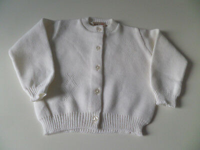 Vintage White Baby / Reborn Cardigan UNUSED