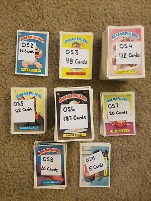 Garbage Pail Kids HUGE LOT- 477 Cards, Orginial Series 2-8, 13