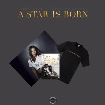 Lady Gaga Bradley Cooper A Star Is Born DVD Mexican edition + T-shirt + Poster