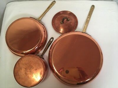 "Vintage Paul Revere Copper Cookware Signature 5 1/4"" Saucepan 1 Qt Pan Pot 1801"