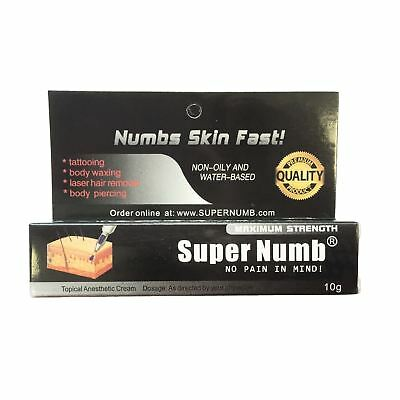 10g Super Numb skin numb numbing cream painless tattoo piercings waxing laser Dr