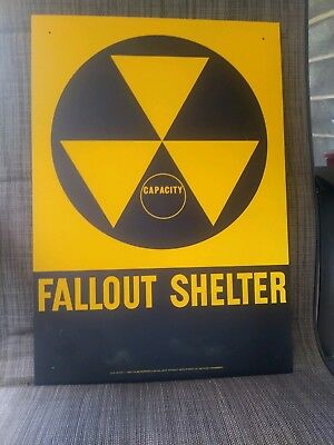 "Original Fallout Shelter Sign - 14"" X 20"""