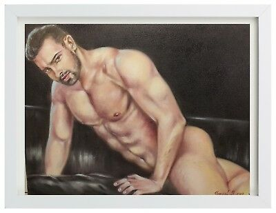 Nude GAY ART Original Oil Painting (Yangol Y.)