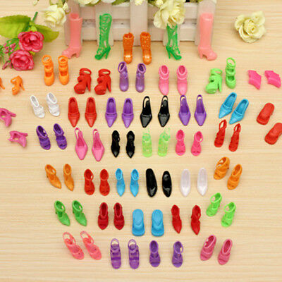 40 New Pairs Different High Heel Shoes Boots Accessories For Barbie Doll