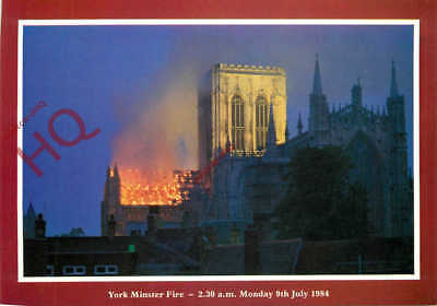 Picture Postcard-:York Minster, The Fire (1984)