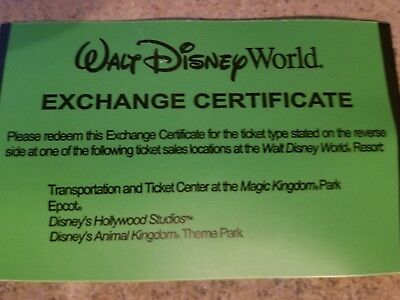 Disney World 4 Day Child Ticket for sale
