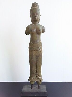 Antique Khmer Style Status Bronze