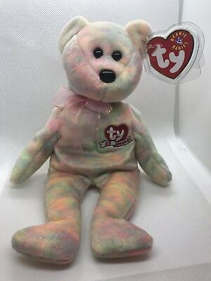 "Ty Original Beanie Babies ""CELEBRATE"" TY 15 YEARS BEAR Rare Retired New"