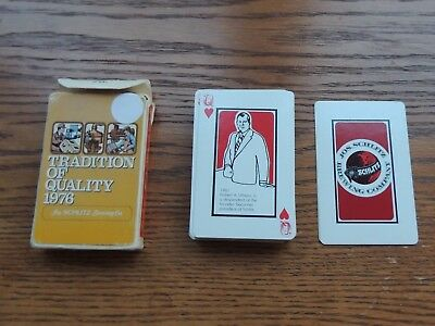 Schlitz Beer Playing Cards- Cards show Jos Schlitz Brewing History