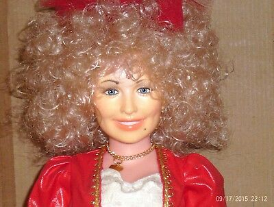 vintage 18 in. vinyl jointed Goldberger Doll- Dolly Parton