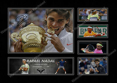 Rafael Nadal  Autographed 14 Grand Slam Wins Limited Edition Signed Print