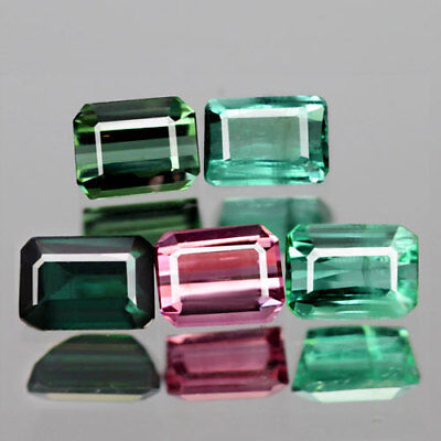 2.33Ct. Charming! Lot! Octagon Facet Fancy Color Natural Tourmaline Nigeria