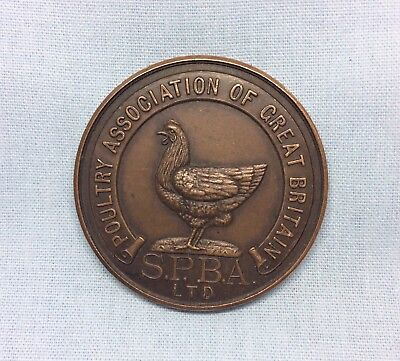 Vintage Poultry Association Of Great Britain Dairy Show 1959 Bronze Medal Coin