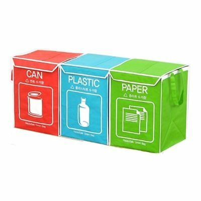 Recycle Bag Separate Recycle Bin Waterproof Wastebaskets Cover and Inner Frame