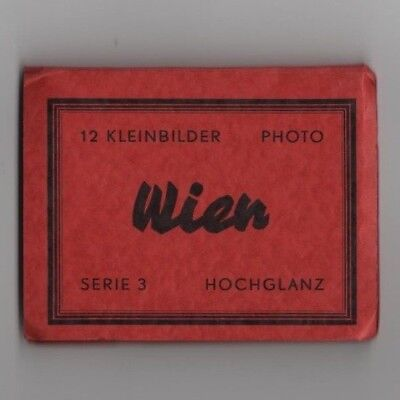 1960 Wien Austria postcard complete set of 12 unused and still attached Series 3