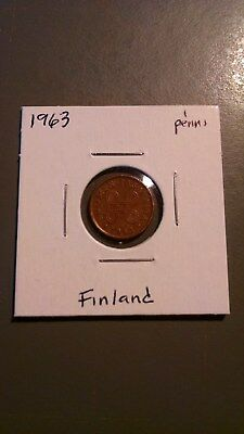 world coins, Finland, 1963, 1 penni