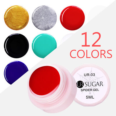 UR SUGAR 5ml Spider Soak Off UV Gel Polish Elastic Drawing Nail Gel Varnish