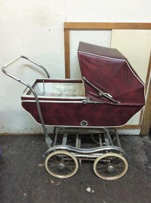Vtg 1950's Babyhood Baby Carriage Buggy Stroller by Wonda-Chair Red PICKUP ONLY