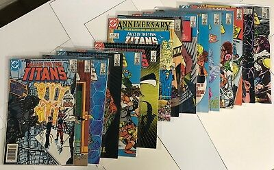 15 Tales Of The Teen Titans Comic Books! Includes #45-51! DC Nightwing Starfire