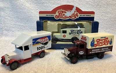 Pepsi Cola Die Cast Truck Car Van Set Made In England Vintage Coke