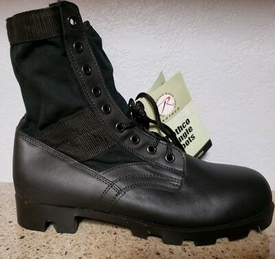 Rothco Military Style Jungle Boots, Black Canvas / Leather,  # 5081  size 10R