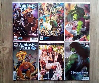 Marvel FANTASTIC FOUR #5 Variant SET #1-#4 WEDDING SPECIAL Variant SALE!!! 2018