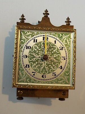 400 Day Anniversary Clock Square Green Dial and Movement - parts / repair