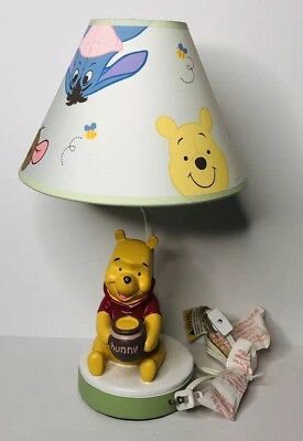 Disney Baby Winnie The Pooh And Friends Hand Painted Baby Nursery Lamp & Shade