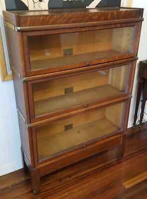 Antique Stacking Globe Wernicke Oak Barrister Bookcase 5 Piece D Section Lawyers