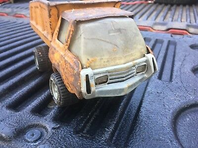 Vintage 1960s Tonka Orange Dump Truck Pressed Steel Metal Toy Vehicle