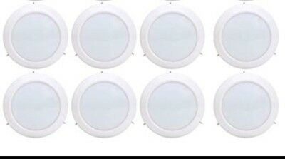 JULLISON 8 Pack Of 6 Inch LED  Surface Mount Disk Light, Round, 15W (nn)
