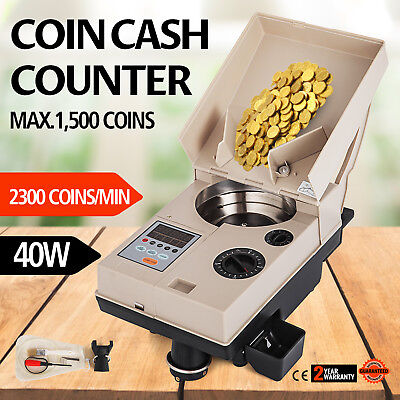C500 Coin Counter Sorter off Sorter 2000 coins minute 2 years wty NEW