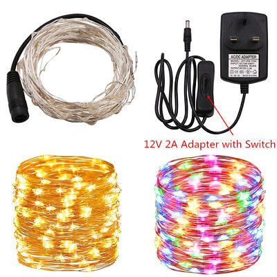 LED Plug-in Micro Fairy String Lights Wire Copper Wedding Party Garden Decor UK