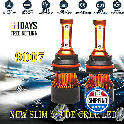 2x 9007 LED Headlight Bulbs HB5 1820000LM Hi/Lo Beam For Nissan Frontier 2001-17