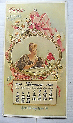 "1973 1899,feb. 'coca-Cola"" Reproduction Valentine Firm Paper Calendar W/envelope"