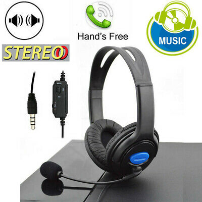 STEREO WIRED GAMING Headsets Headphones with Mic for PS4