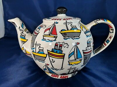 Cardew Design Ahoy Ahoy Teapot Made In England - 1990s - Nautical - Excellent