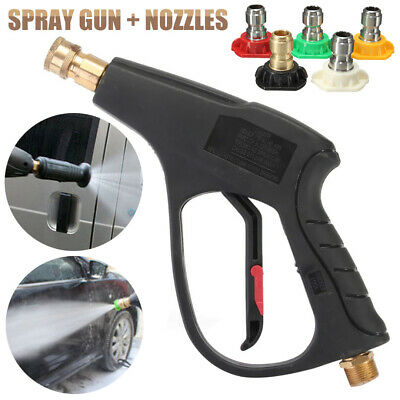 High Pressure Washer Gun Lance M22 + 5pcs Quick Connect Water Jet Nozzle Tips