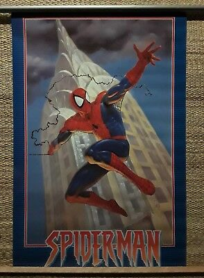 """Vintage Spider-Man poster, 1995 """"Empire State"""" in original tube, Very Rare!"""