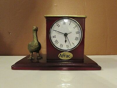 Aflac Desk Accessory Clock And Pen Holder Insurance Advertising Duck