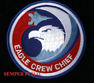 F-15 Eagle Crew Chief Patch Us Air Force Usaf Afb Pin Up Air Wing Fighter Vet