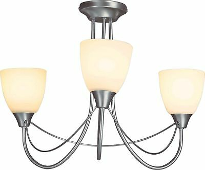 Argos Home Symphony 3 Light Ceiling Fitting - Silver