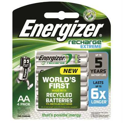 NEW GENUINE ENERGIZER RECHARGE EXTREME NiMH AA 2300mAh 1.2V 1PACK = 4x BATTERIES