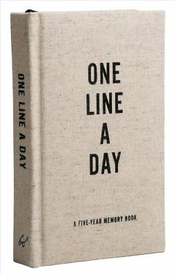 Canvas One Line a Day A Five-Year Memory Journal 9781452174792