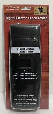 NEW American Farm Works DEFT-AFW Digital Electric Fence Tester, FREE Shipping