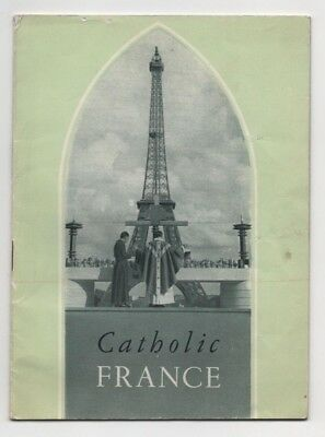 1960 French train ticket and RARE Catholic book pilgrimage Paris to Chartres