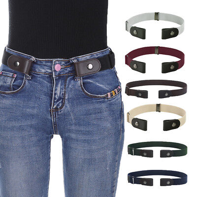 Women's Buckle-Free Elastic Belts Invisible Belt for Jeans No Bulge Hassle Band
