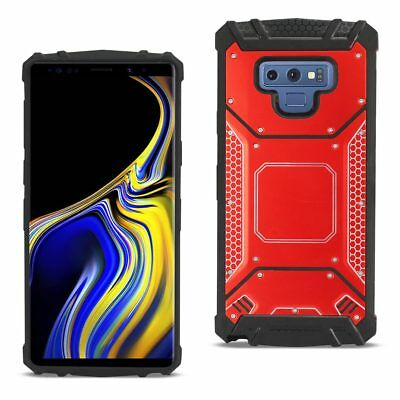 Samsung Galaxy Note 9 Metallic Front Cover Case In Red
