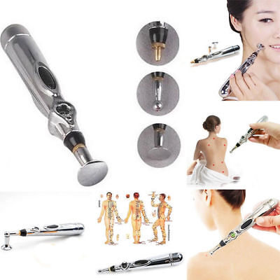 Electronic Acupuncture Pen Electric Meridian Body Massager Pain Relief Therapy B